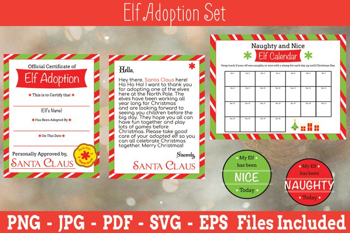 Elf Adoption Certificate Set | Elf Adoption | Elf SVG | Elf