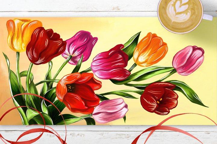 Tulips digital painting example 1