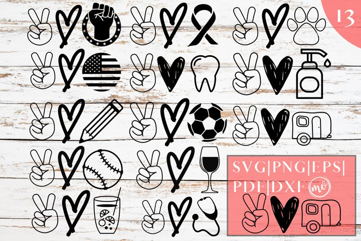 Peace Love SVG Mega Designs Bundle - 13