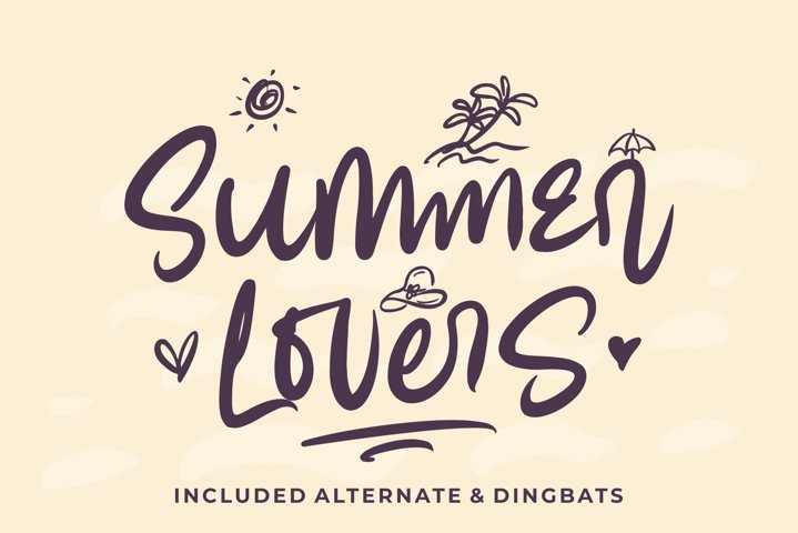 Summer Lovers with Alternate and Dingbat