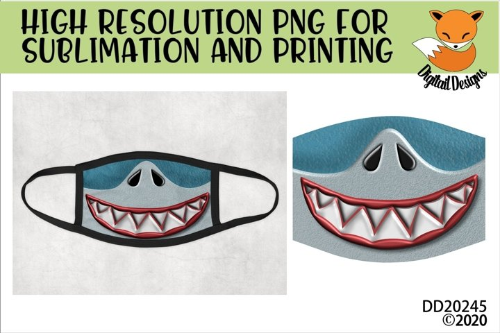 Funny Shark Teeth Sublimation Design For Masks