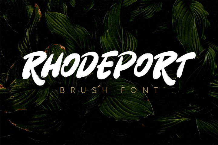 Rhodeport - Brush Font