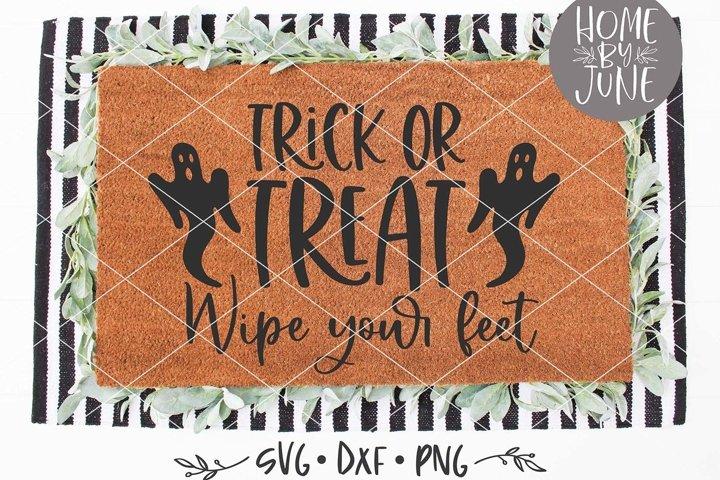 Trick Or Treat Halloween Doormat SVG DXF PNG