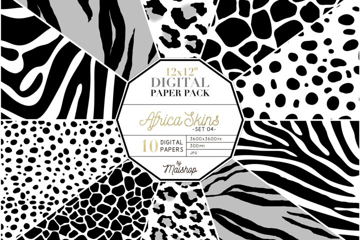 Digital Paper Pack - Africa Skins Set 04