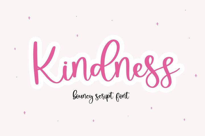 Kindness - A Bouncy Handwritten Script Font