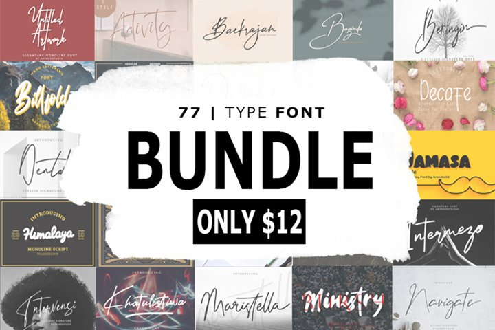 The Massive Bundle Of 46 Beautiful Fonts