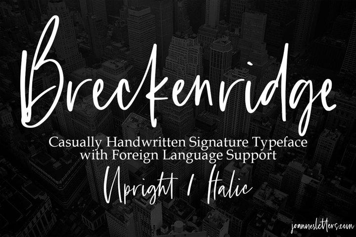 Breckenridge Signature Font Duo Casual Signature Typeface