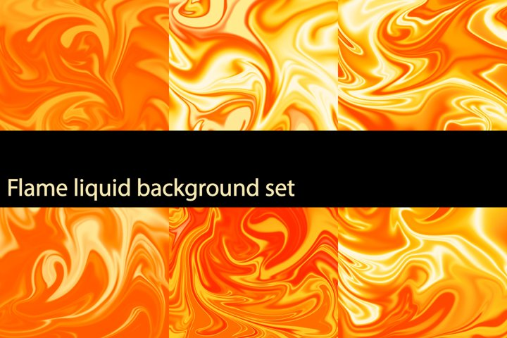 Flame liquid, background set
