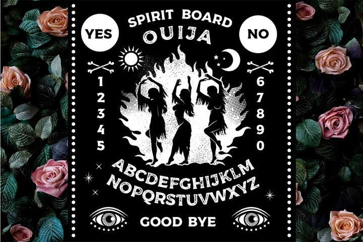 Spirit Boards with Witches Dancing
