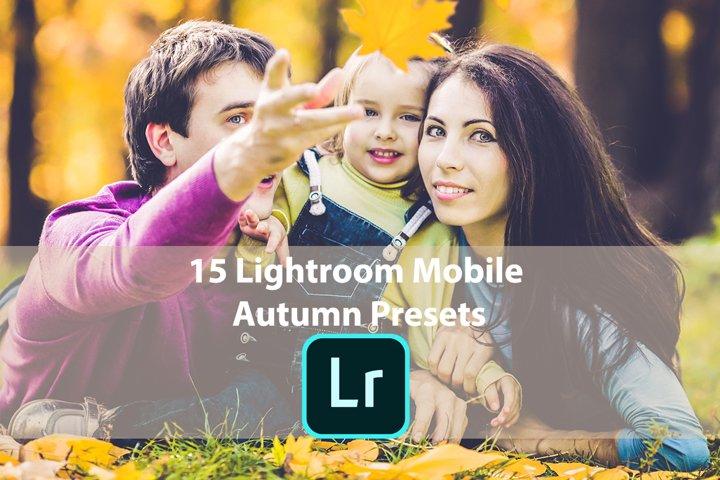 15 Lightroom Mobile Autumn Presets