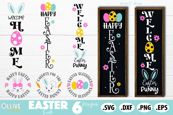 Easter Porch Sign SVG Bundle, Easter Sign SVG