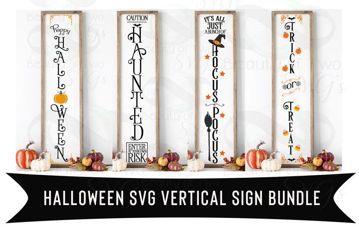 Halloween Vertical svg Sign Bundle, 4 Halloween svg designs