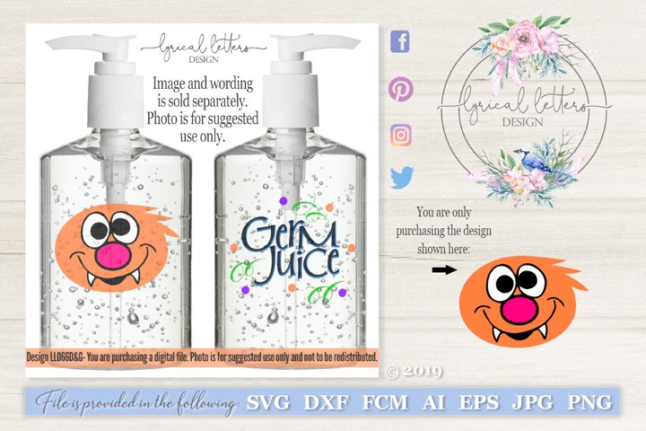 Germ Juice Hand Sanitizer Monster #4 SVG DXF LL066D