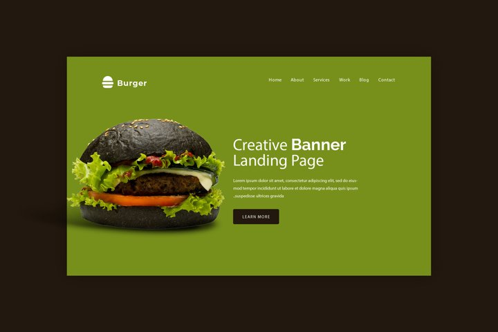 Burger Bar Hero Image Mockup #2