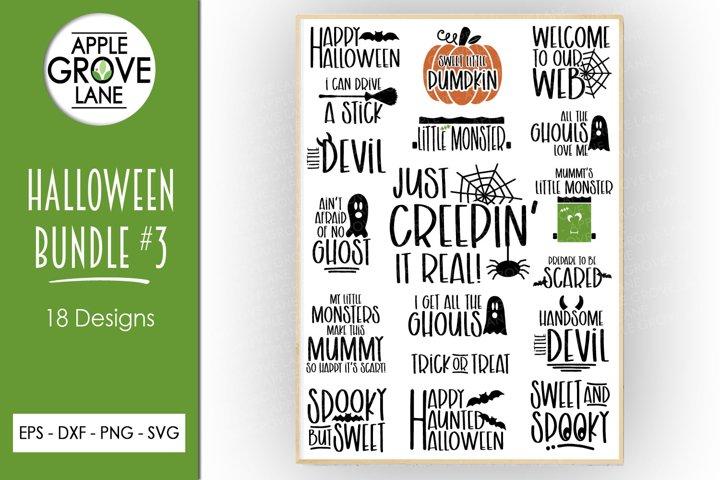 Halloween Svg Bundle - 18 designs - Vector Clip Art Svg File