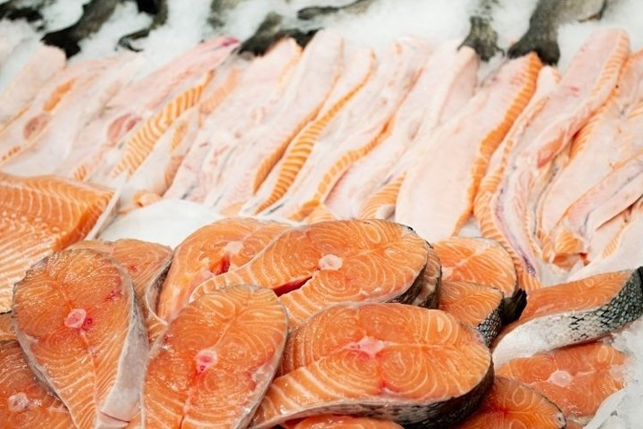Salmon and trout on ice - 2