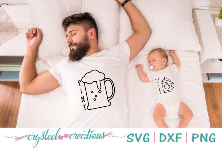 Pint and 1/2 Pint Bundle SVG, DXF, PNG