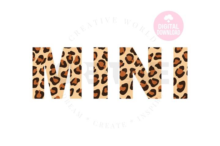 Mini Leopard sag   Mini svg   Leopard svg   Mini Leopard