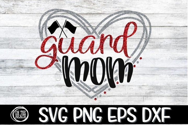 Guard Mom - Heart - SVG - DXF - EPS - PNG