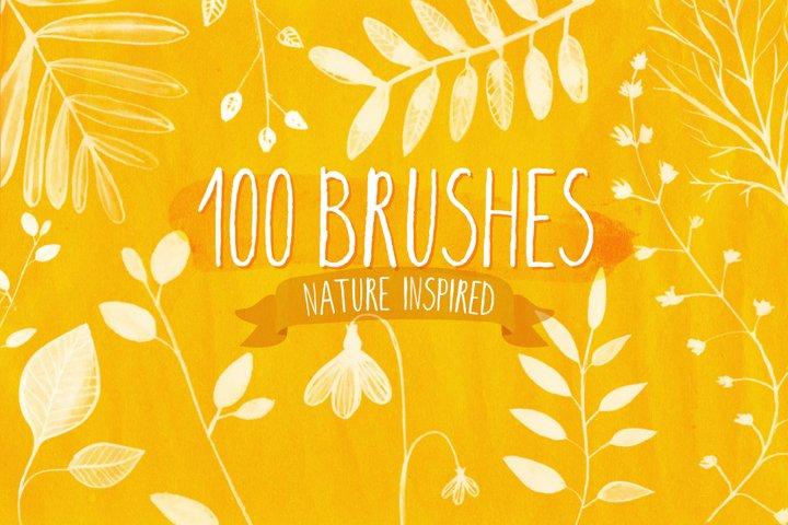 100 Nature Photoshop brushes
