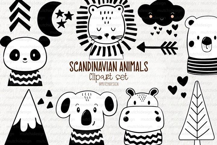 Scandinavian Animals Graphic Set