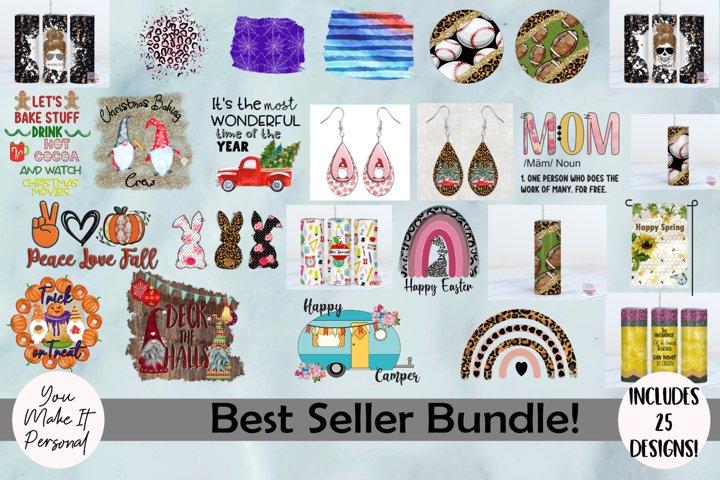 Best Seller Sublimation Bundle! 25 PNG Files Included!