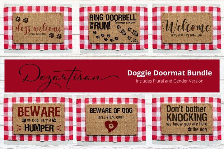 Doggie Doormat Bundle SVG DXF Cut File