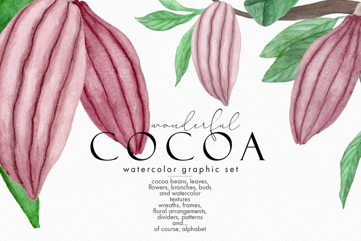 Wonderful Cocoa - Watercolor Clipart Set