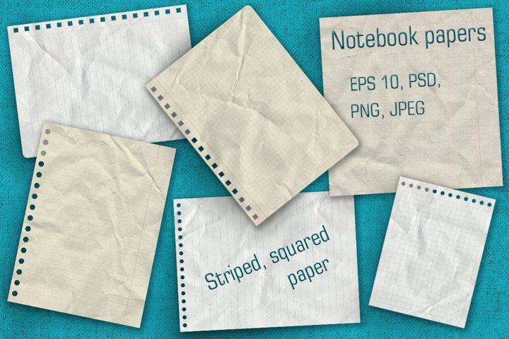 Notebook paper set