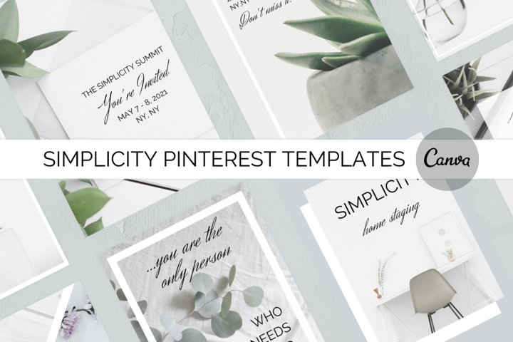 Simplicity Pinterest Templates