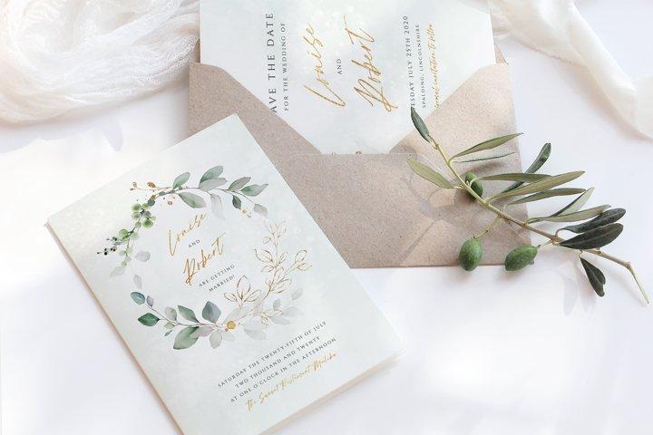 Eucalyptus Wreath Wedding Suite Template