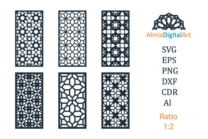 Cut files. SVG,DXF,PNG,CDR,EPS,Ai. Decorative panels, screen