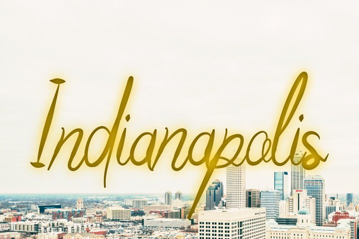 Indianapolis modern script calligraphy