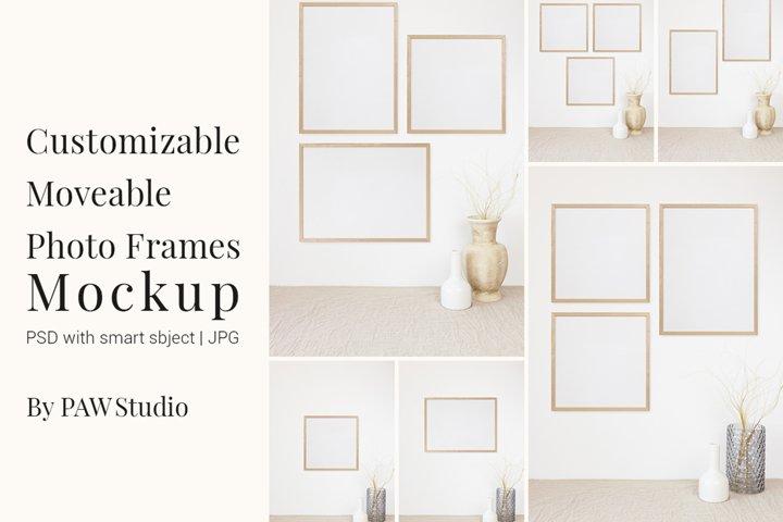 Customizable Moveable Photo Frames Mockup