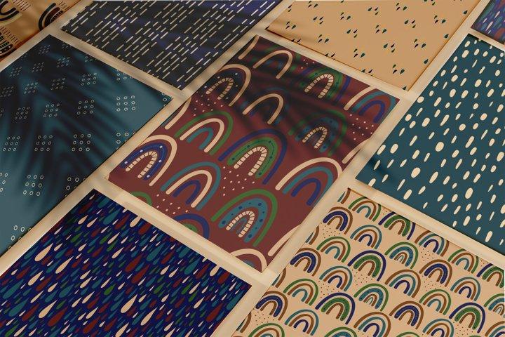 Modern Bohemian patterns. Boho pattern collection example 3