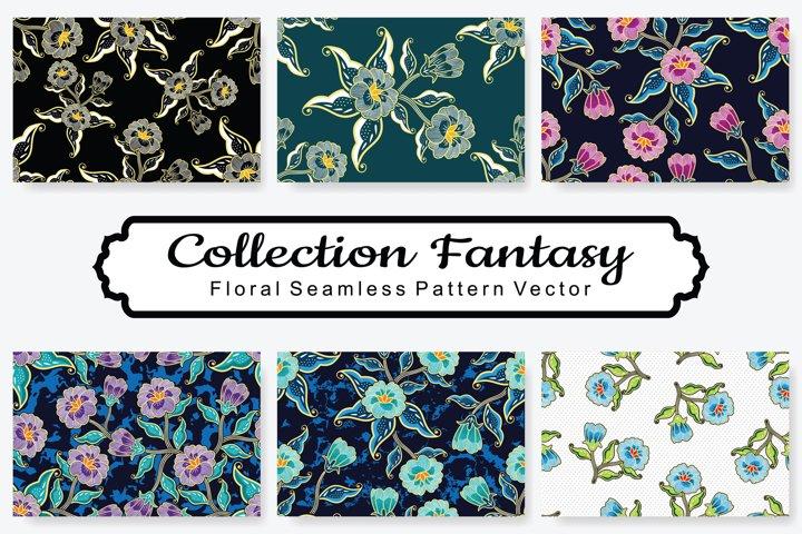 Set Of Fantasy Floral Vector Pattern Vol.19