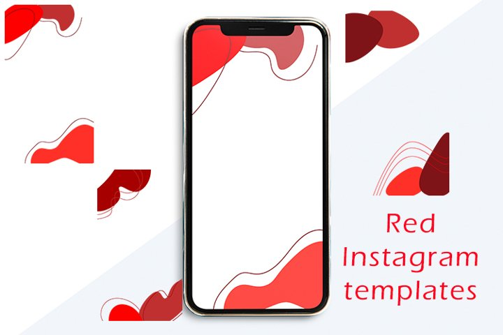 Red Instagram templates