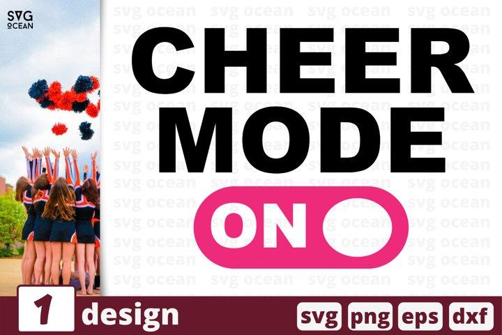 CHEER MODE ON SVG CUT FILE | Cheerleading shirt print