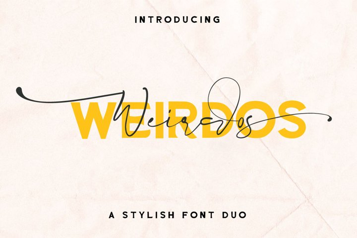 Weirdos Font Duo