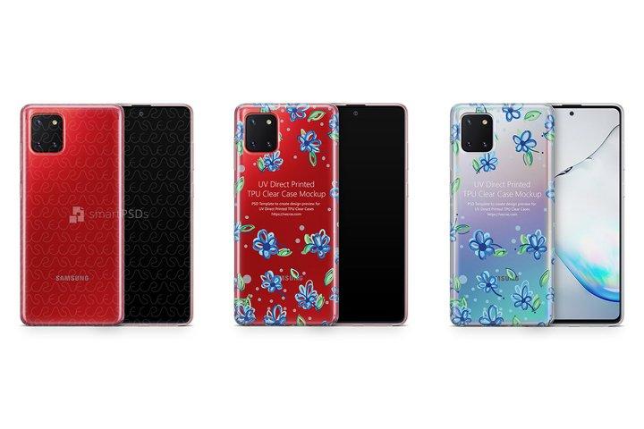 Galaxy Note 10 Lite 2020 TPU Clear Case Mockup
