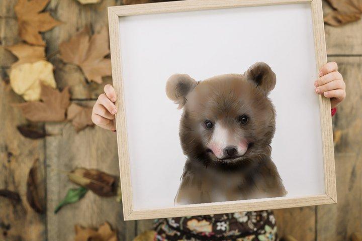 Watercolor baby bear, Printable Wall Art, Baby rooms poster