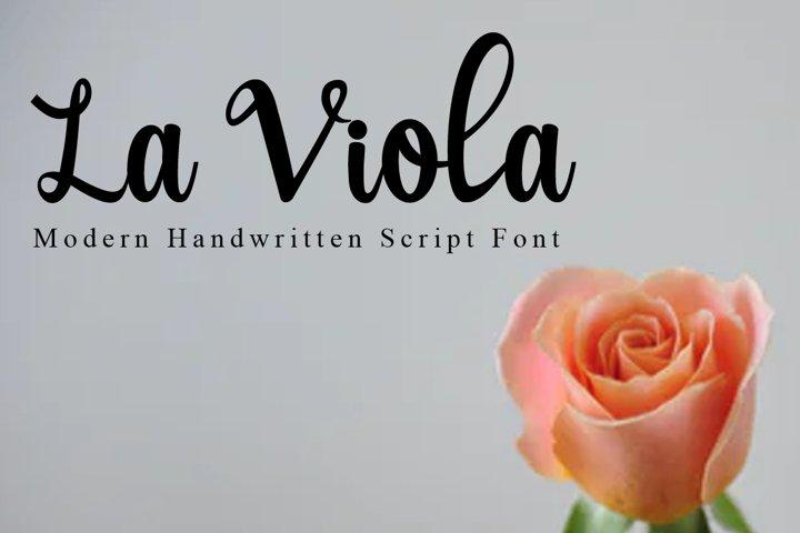 La Viola Modern Handwritten Script Font