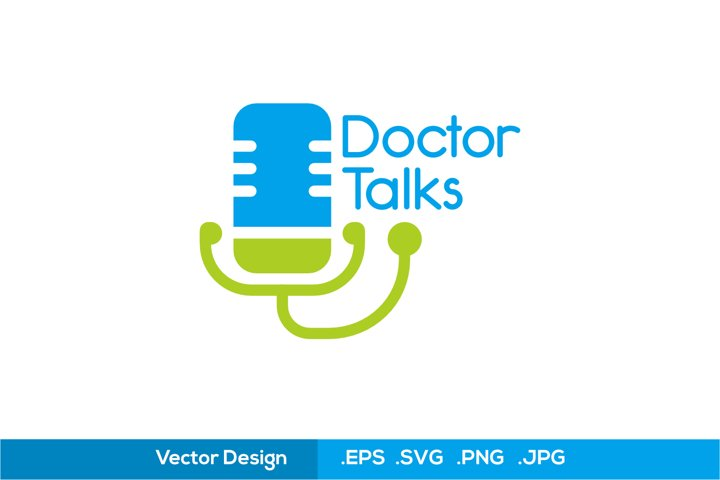 Doctor Talks Logo - SVG Logo