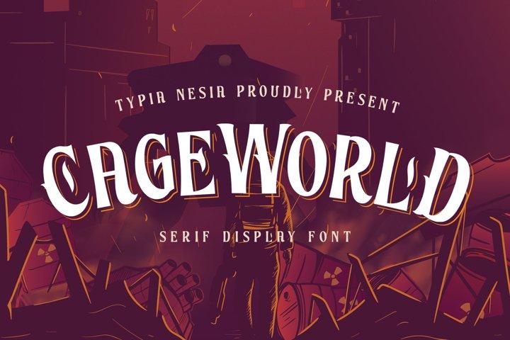 Cageworld Game Font