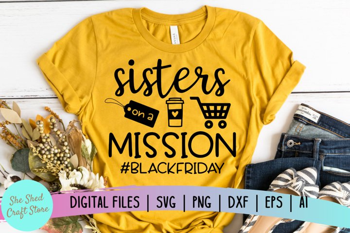 Sisters SVG, Black Friday SVG, Black Friday Crew SVG