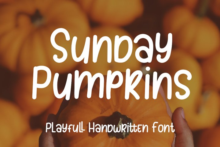 Sunday Pumpkins - Playful Font