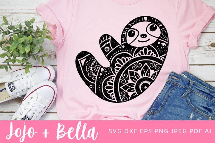 Zentangle Sloth Svg | Mandala SVG| Sloth SVG