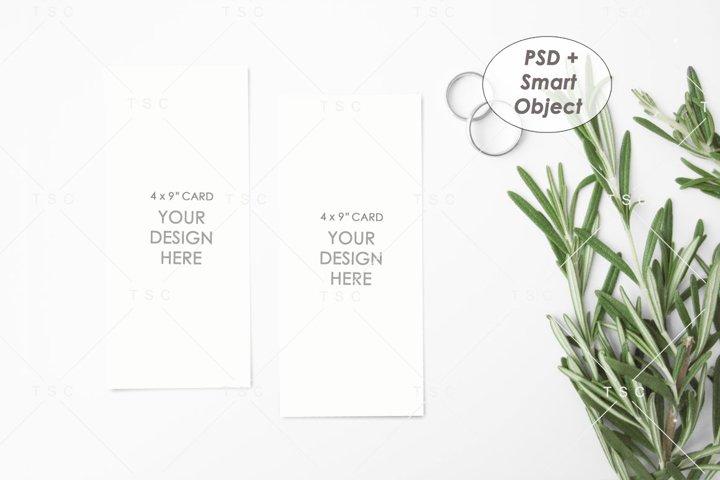 4 x 9 Card / Program Card Mockup