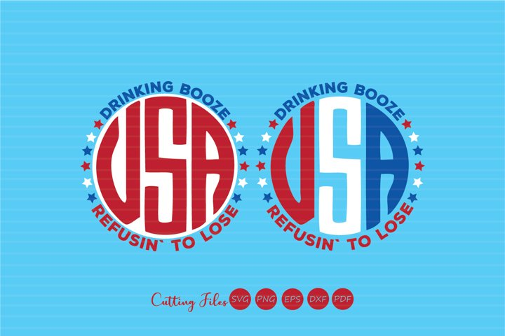 4th of July monograms| 4th of July | SVG Cut files |