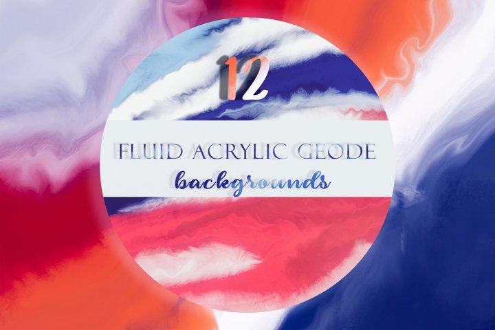 Vivid Geodes. Fluid Acrylic Agate Backgrounds